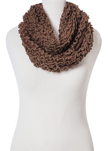 Mini Ruffle Lurex Scarf