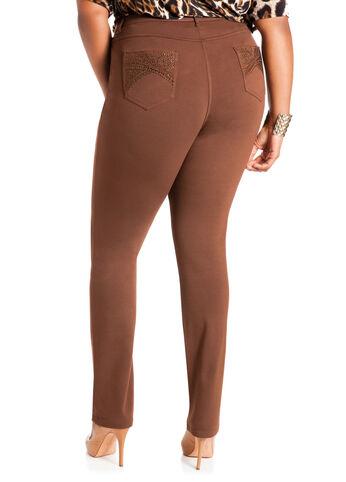 Embellished 5-Pocket Skinny Pants