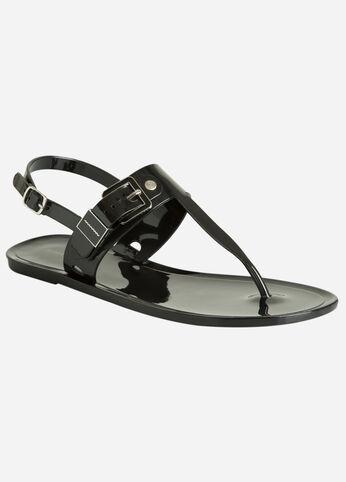 T-Strap Jelly Sandal - Wide Width