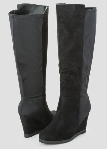 Mix Media Stretch Back Tall Boot - Wide Width Wide Calf