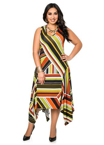 Hanky Hem Multi Stripe Dress