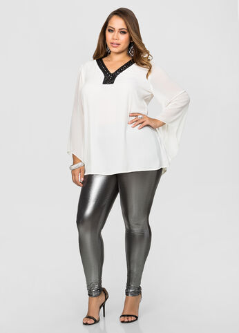 Metallic Liquid Legging