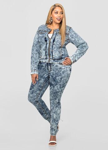 Acid Wash Skinny Jean