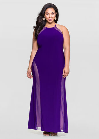 Mesh Curve Special Occasion Dress
