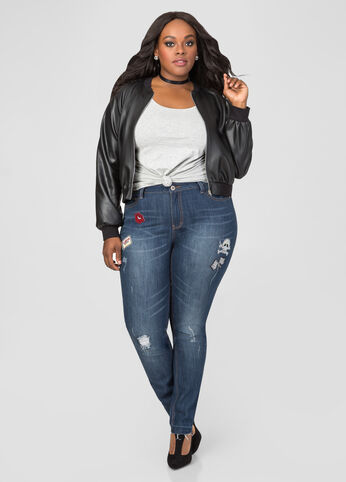 Glamour Relieves Tension Skinny Jeans