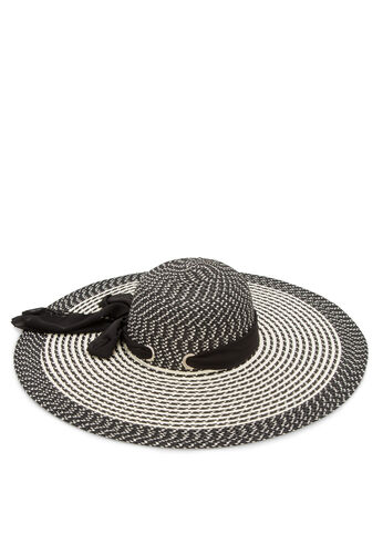 Large Brim Stripe Sunhat