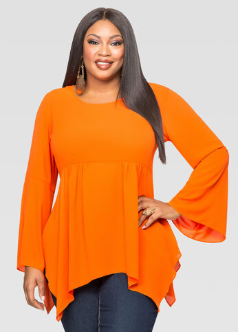 Sharkbite Bell Sleeve Blouse