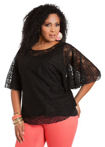 Crochet Short-Sleeve Top