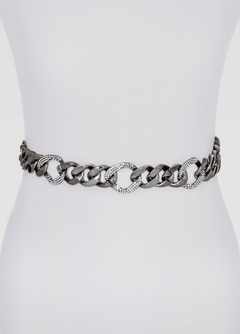 Stone Encrusted Chain Link Belt