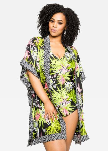 Tropics Kimono Swim Cover-Up