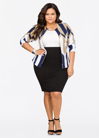 Take it to work plus size outfit
