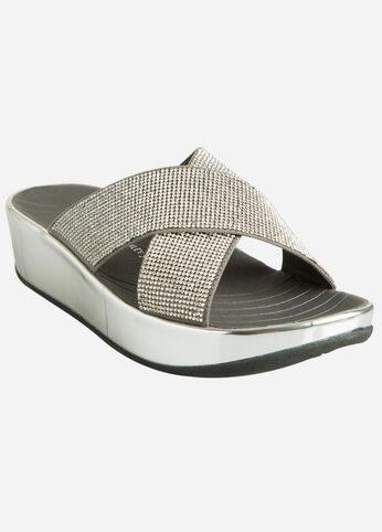 Embellished Platform Sandal - Wide Width