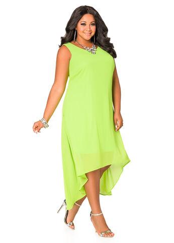 Sleeveless Chiffon Hi-Lo Dress