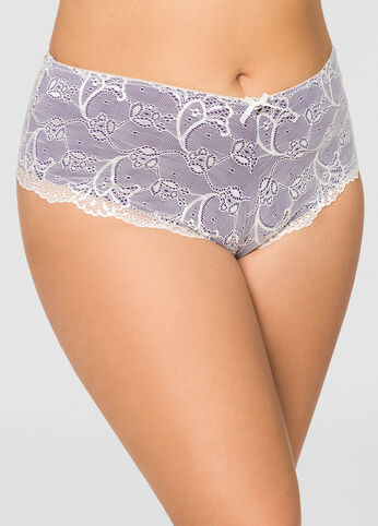 Lace Overlay Hipster Panty