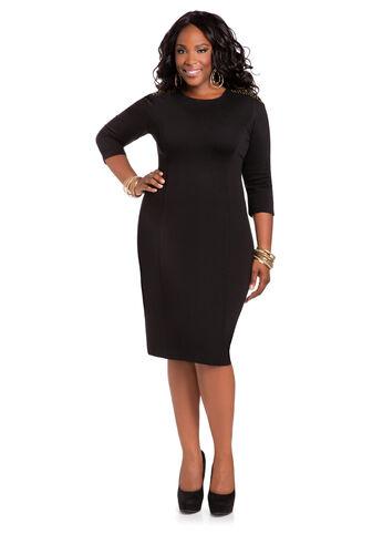 Grommet Shoulder Dress
