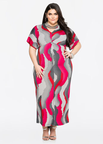 Variegate Dot Maxi Dress