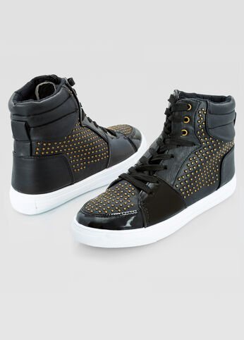 All Over Stud High Top Sneaker - Wide Width