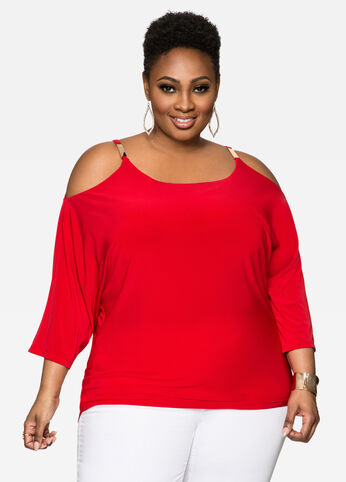 Cold Shoulder Dolman Top