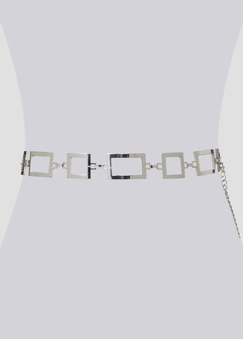 Metal Squares Chain Link Belt