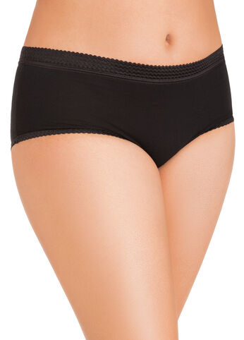 Black Full-Coverage Cotton Briefs