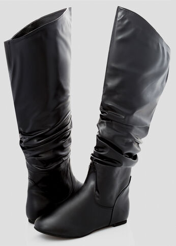 Basic Tall Slouchy Boot - Wide Width Wide Calf
