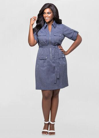 Flap Pocket Dress
