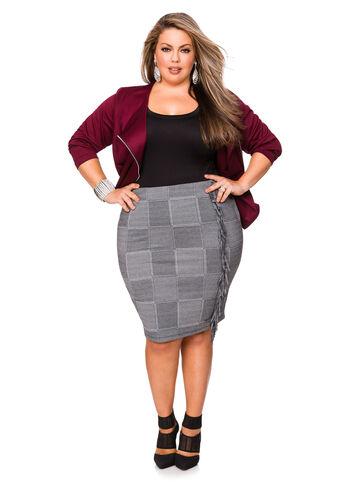 Jacquard Fringe Skirt