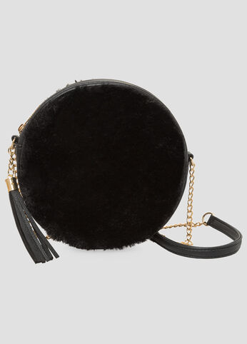 Fur Canteen Shoulder Bag at Ashley Stewart