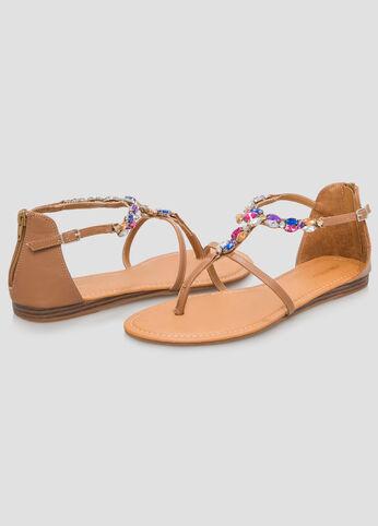Jewel Flat Sandal - Wide Width
