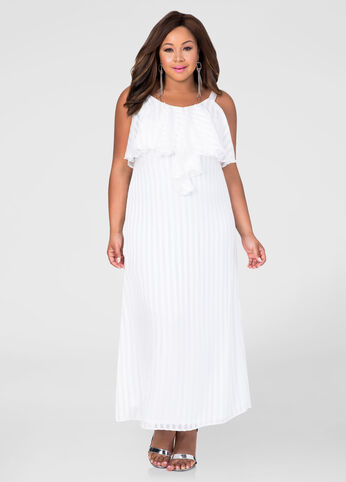 Shadow Stripe Maxi Dress