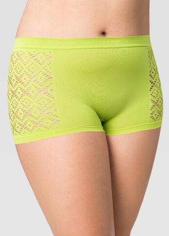 Seamless Diamond Texture Boyshort Panty