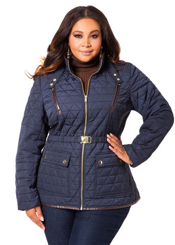 Quilted Belted Jacket