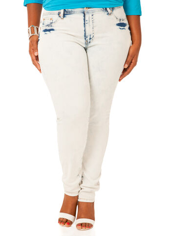 Light Cloud Wash Skinny Jeans