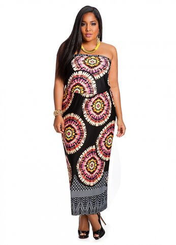 Web Exclusive: Tie-Dye Print Maxi Dress