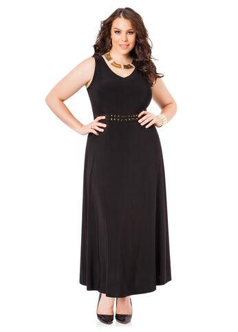 Stud Waist Maxi Dress