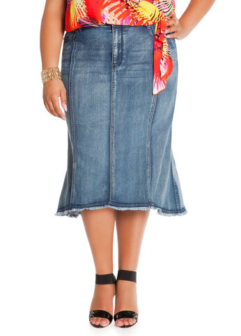 Hi-Lo Panel Skirt