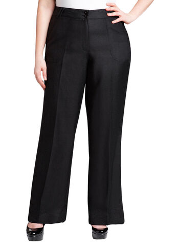 Square Pocket Linen Pant