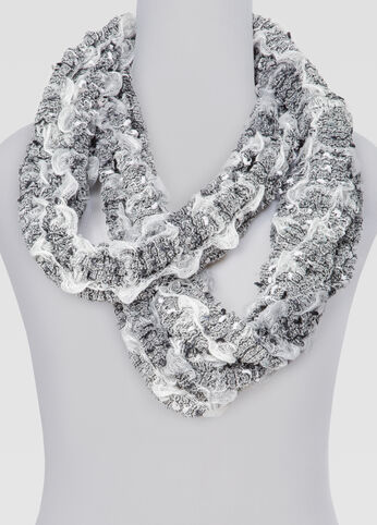 Ruched Ombre Infinity Scarf