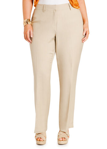 Slim Fit Linen Pants
