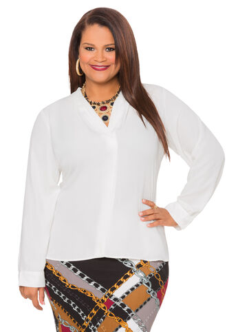 V-Neck Hi-Lo Blouse