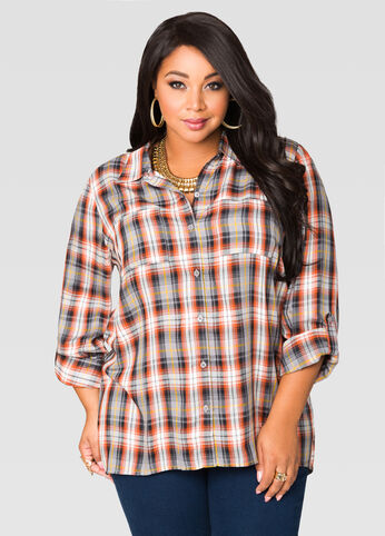 Yarn Dyed Plaid Shirt