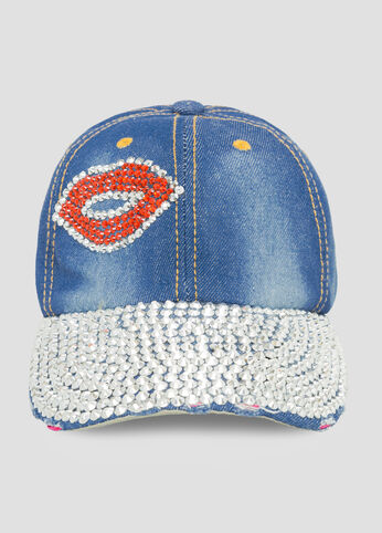 Rhinestone Lips Baseball Cap