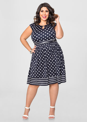 Polka Dot Stripe Dress