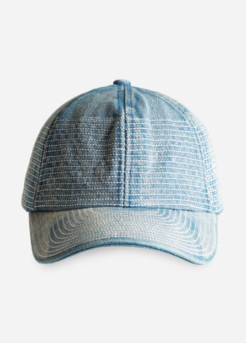 Stitched Denim Baseball Hat
