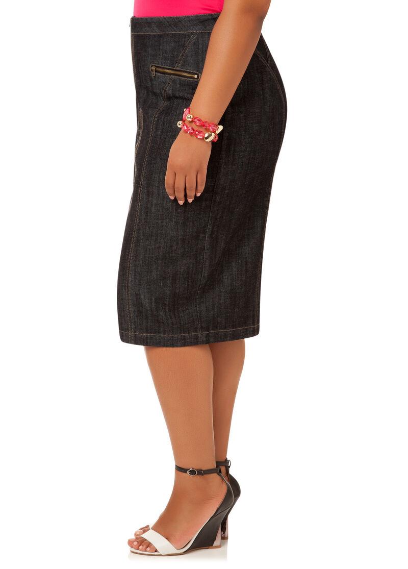 Zipper Front Skirt 33