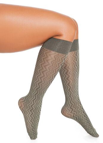 Zigzag Print Trouser Socks