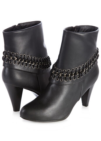 Metal Chain Ankle Booties
