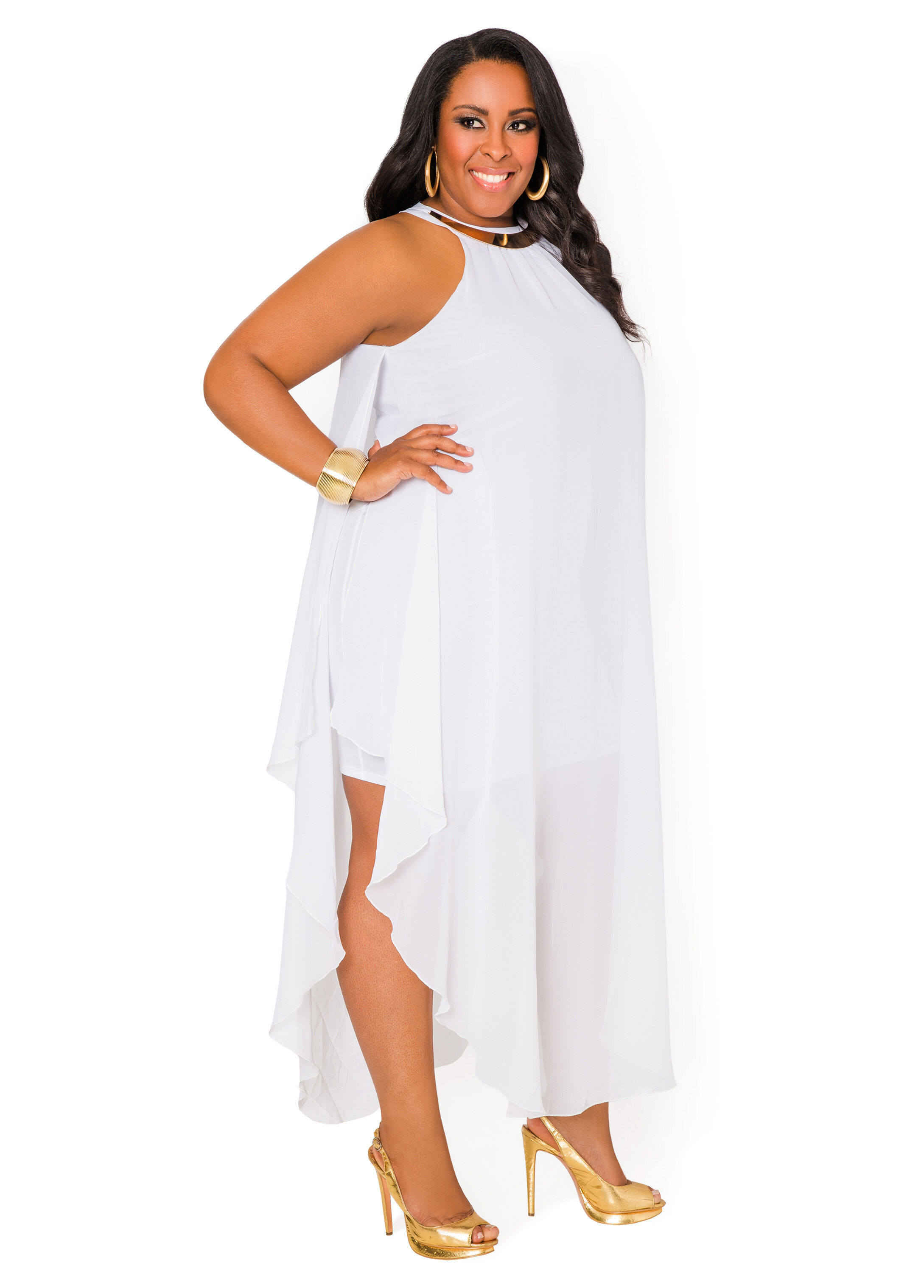 Plus Size White Maxi Dresses