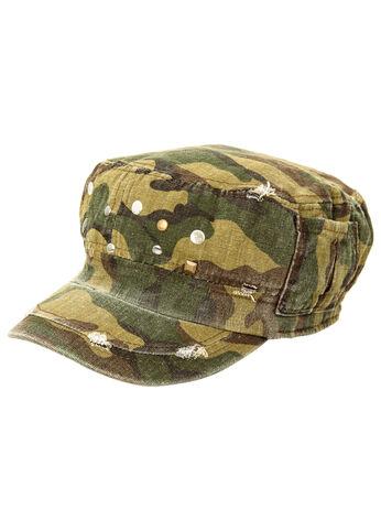 Studded Camo Cabby Hat