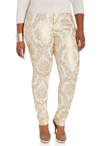 Baroque Skinny Denim Pants